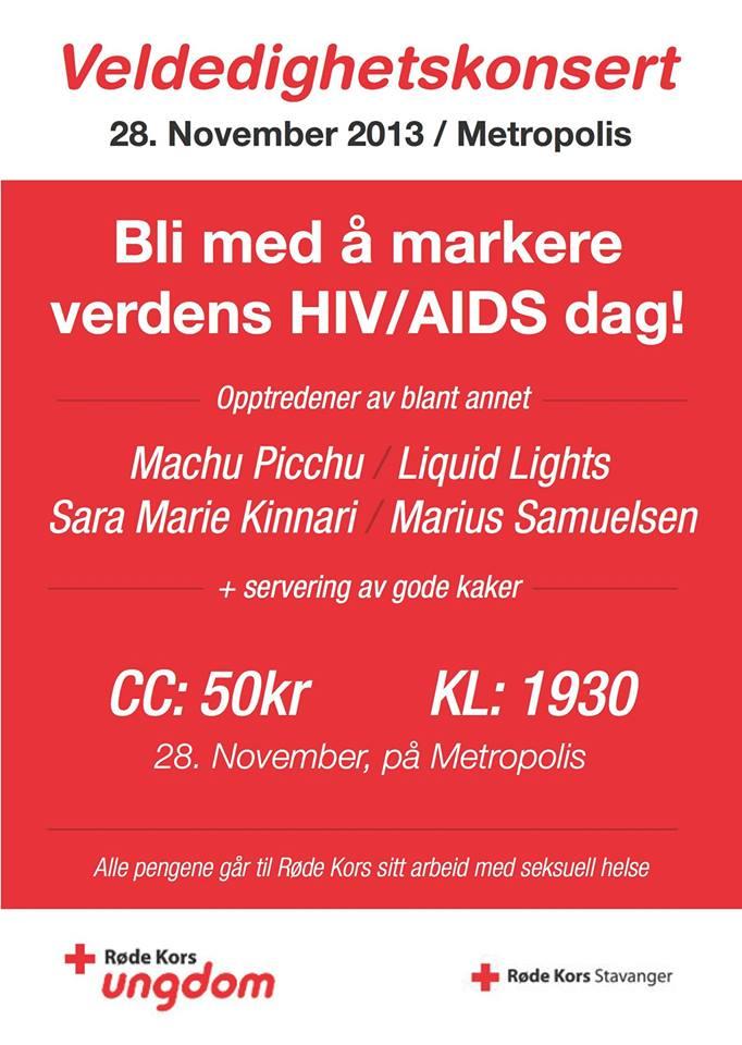 RØDE KORS UNGDOM VELDEDIGHETSKONSERT 28.NOVEMBER KL.19.30