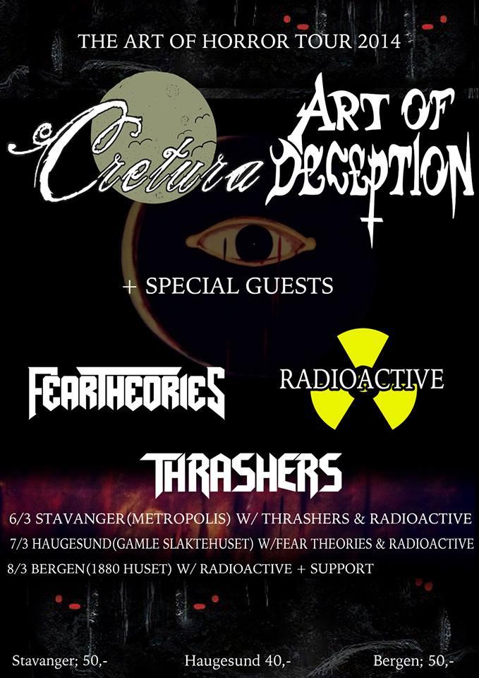 Art of Horror Tour torsdag 6. mars kl.19.00 på Metropolis