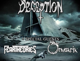 KONSERT med: Art of Deception + Fear Theories & Ormskrik torsdag 7. januar kl. 18.30