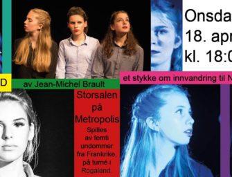 Dramateater med forestillingen Mangfold onsdag 18. april kl. 18.00 – GRATIS