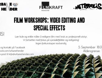 Film Workshops: Video Editing and Special Effects onsdag 5. sept kl. 18.00 – 21.00 – GRATIS