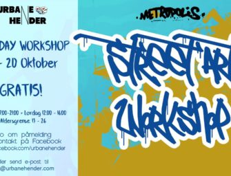Gratis 2 Day Street Art Workshop 19. og 20. oktober
