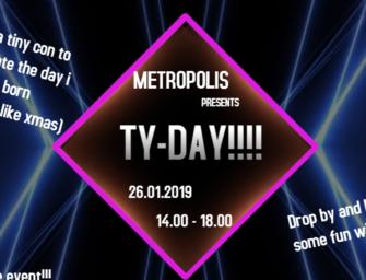 Ty-Day – et lite con – lørdag 26. januar kl. 14.00 – gratis