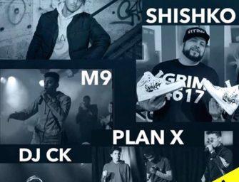 Hip-hop konsert med flere artister torsdag 25. april kl. 18.00 CC: 50,-