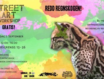 Gratis Street Art Workshop – Save The Rainforest! Med Brosey(AU) -lørdag 7. sept kl. 12.00