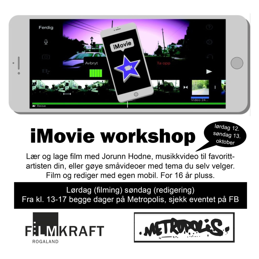 iMovie Workshop plakat