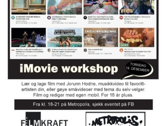 iMovie workshop torsdag 19. desember kl. 18.00 – gratis