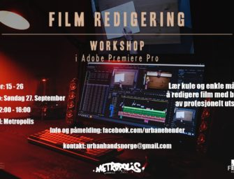 Gratis Film Redigering Workshop i Adobe Premiere Pro 27. sept