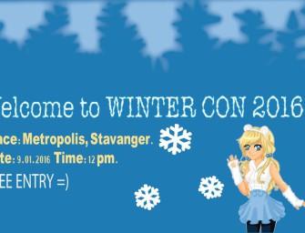 MINICON Winter lørdag 9. januar kl. 11.00