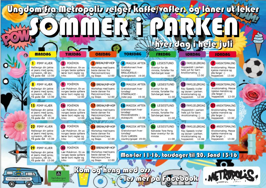 PLAKAT Sommer i Parken 2019 NY