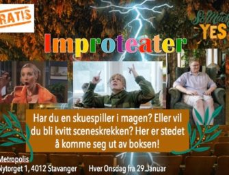 Improteater –  onsdager fra kl. 18.00 – helt gratis