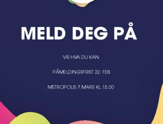 UKM Stavanger 2020 – Meld deg på før 22.februar og vis hva du kan!