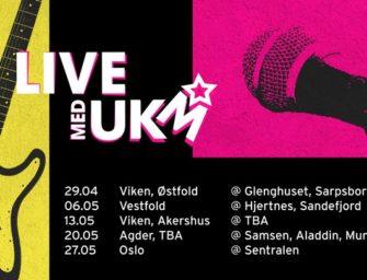 Livestream konserter med UKM hver onsdag ut mai måned