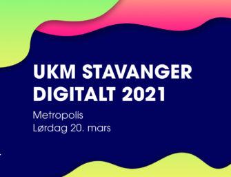 UKM Stavanger 2021 Digitalt lørdag 20. mars